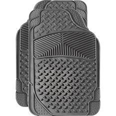 Car Floor Mats - Rubber, Grey, Set of 2 Front, , scanz_hi-res