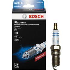 Bosch Platinum Spark Plug - 6703-6, 6 Pack, , scanz_hi-res