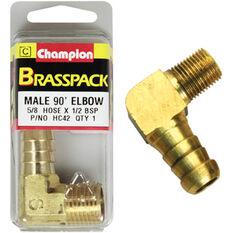 Champion Male Elbow 90° - 5/8 x 1/2 Inch, Brass, , scanz_hi-res