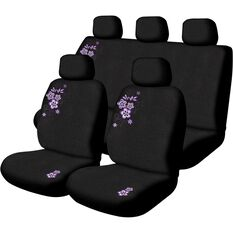 Peach Blossom Seat Cover Pack - Purple, Adjustable Headrests, Size 30 & 06H, Airbag Compatible, , scanz_hi-res
