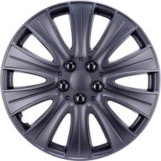 Street Series Wheel Covers - Stealth 15in, Matte Black, 4 Pack, , scanz_hi-res