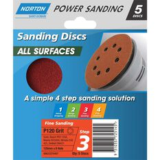 Norton Disc Sander - 120 Grit, 125mm, , scanz_hi-res