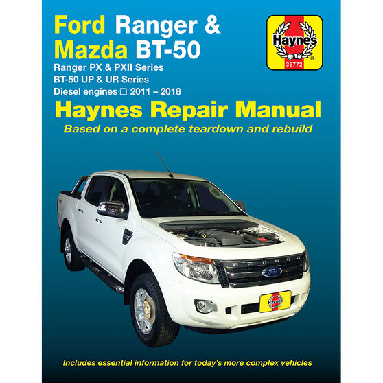 Haynes Car Manual For Ford Ranger / Mazda BT-50 2011-2017 - 36772, , scanz_hi-res