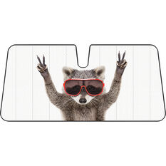 Cool Racoon Sunshade - Fashion, Accordion, Front, , scanz_hi-res