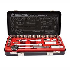 ToolPRO Socket Set - 3 / 8 inch Drive, Metric / Imperial, 30 Piece, , scanz_hi-res