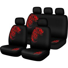 Seat Cover Pack - Red, Built-in Headrests, Size 30 & 06H, Front & Rear Pack, Airbag Compatible, , scanz_hi-res