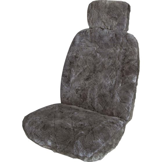 Sheepskin Seat Cover - Charcoal, Single, , scanz_hi-res