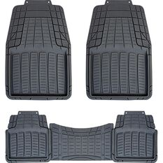 SCA Rubber Floor Mats - Black, Set of 3 or 4, , scanz_hi-res