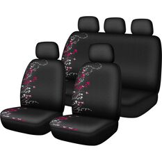 Apple Blossom Seat Cover Pack - Pink, Adjustable Headrests, Size 30 and 06H, Airbag Compatible, , scanz_hi-res
