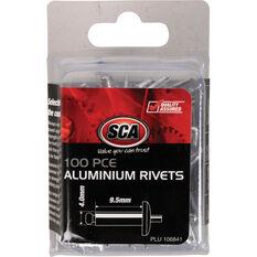 SCA Rivets - 4 x 9.5mm, 100 Piece, , scanz_hi-res