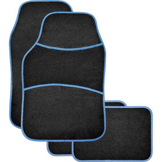 Sports Floor Mats - Carpet, Black / Blue, Set of 4, , scanz_hi-res
