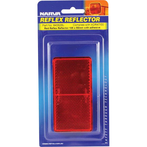 Reflector - Red With Adhesive, 105 x 55mm, , scanz_hi-res