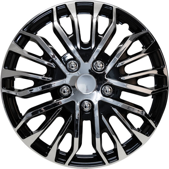 Street Series Wheel Covers - Plasma 15in, Black / Chrome, 4 Pack, , scanz_hi-res