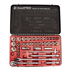 Socket Set - 1/2 Drive, Metric/Imperial, 40 Piece, , scanz_hi-res
