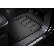 Armor All Deep Dish Car Floor Mats - Rubber , Black Set of 3, , scanz_hi-res
