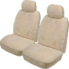 Gold Cloud Sheepskin Seat Covers - Bone, Adjustable Headrests, Size 30, Front Pair, Airbag Compatible, Bone, scanz_hi-res