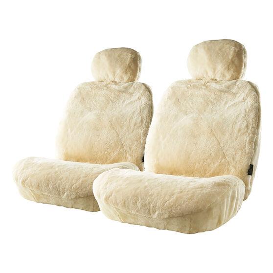 Gold Cloud Sheepskin Seat Covers - Bone, Adjustable Headrests, Size 30, Front Pair, Airbag Compatible Bone, Bone, scanz_hi-res