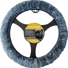 Cloud Steering Wheel Cover - Sheepskin, Charcoal, 380mm diameter, , scanz_hi-res