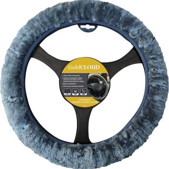 Cloud Steering Wheel Cover - Sheepskin, Charcoal, 380mm diameter, , scanz_hi-res