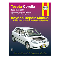 Haynes Car Manual For Toyota Corolla 1997-2006 - 92728, , scanz_hi-res