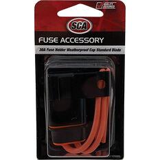 SCA Standard Blade Fuse Holder, Waterproof Cap, , scanz_hi-res