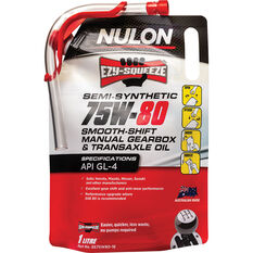 Nulon EZY-SQUEEZE Smooth Shift Manual Gearbox & Transaxle Oil 75W-80 1 Litre, , scanz_hi-res