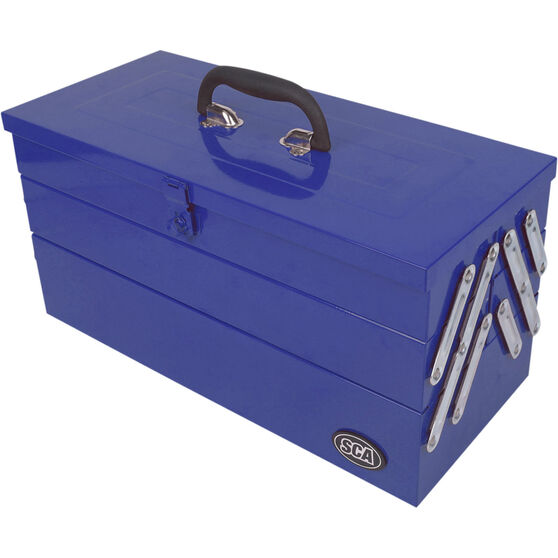 SCA Tool Box - Metal, 5 Tray, Blue, , scanz_hi-res