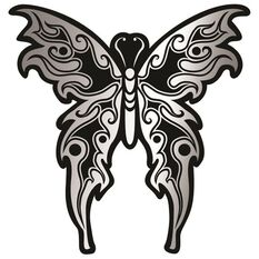 Sticker - Tribal Butterfly, Chrome, , scanz_hi-res