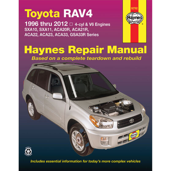 Haynes Car Manual Toyota RAV4, 1994-2012 - 92782, , scanz_hi-res