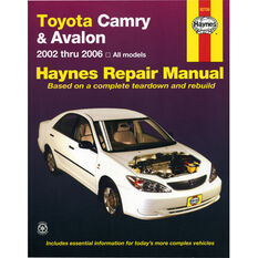 Haynes Car Manual For Toyota Camry / Avalon 2002-2006 - 92708, , scanz_hi-res