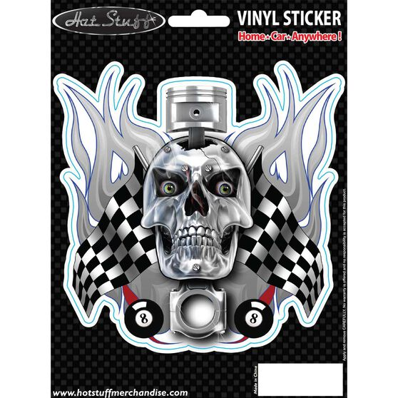 Sticker - Skull Piston Flags, , scanz_hi-res