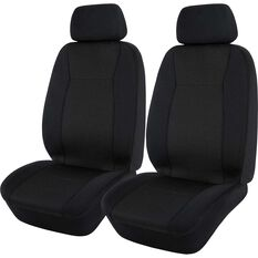SCA Jacquard Seat Covers - Black Adjustable Headrests Airbag Compatible, , scanz_hi-res