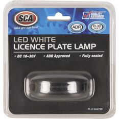 SCA Licence Plate Lamp - LED, White, 10-30V, , scanz_hi-res