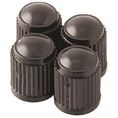 Valve Caps - Standard Black, 4 Piece, , scanz_hi-res