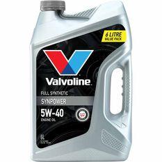 Valvoline Synpower Engine Oil 5W-40 6 Litre, , scanz_hi-res