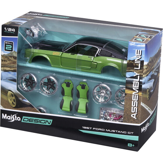 Die Cast, Assembly Ford Mustang GT 1967 - 1:24 scale model, , scanz_hi-res