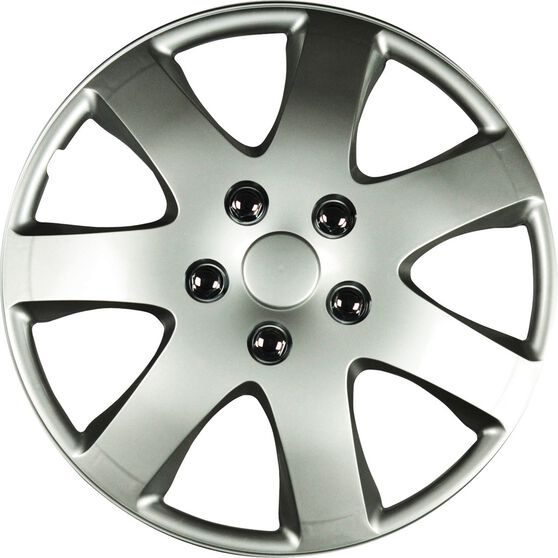 Best Buy Wheel Covers - Compass, 13 inch, Silver, 4 Piece, , scanz_hi-res