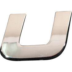 3D Chrome Badge - Letter U, , scanz_hi-res
