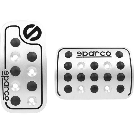 Sparco Pedal Pads - Aluminium/Black Rubber, , scanz_hi-res