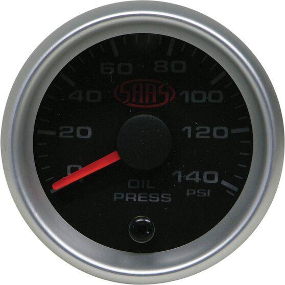 SAAS Oil Pressure Gauge - Black, 52mm, , scanz_hi-res