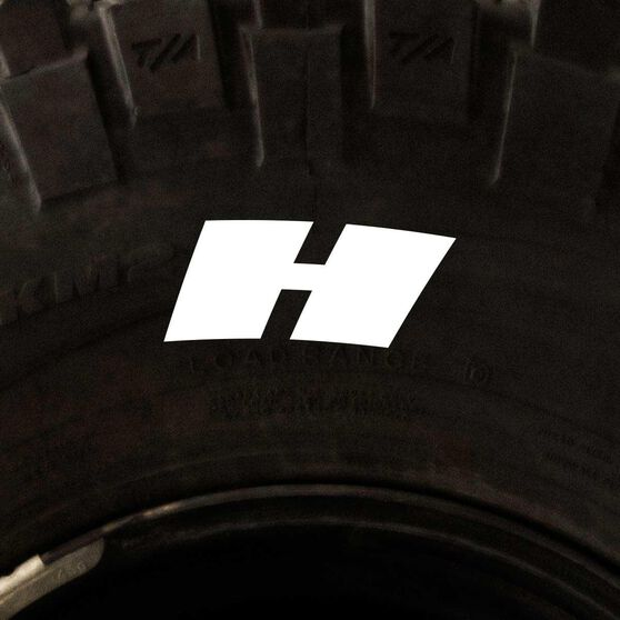 Tire Stickers - Letter H, , scanz_hi-res