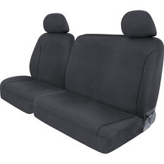 SCA Canvas Ute Seat Covers - Charcoal/Grey, Size 301, Front Bucket and Bench (w/out cut out), , scanz_hi-res
