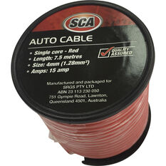 SCA Auto Cable - 7.5m, 4mm, Low Tension, Red, , scanz_hi-res