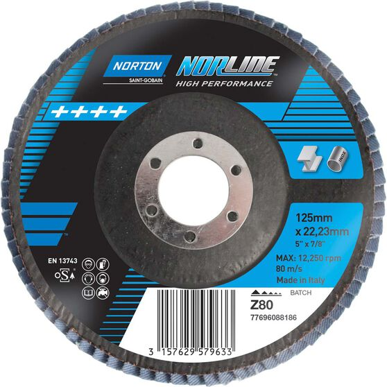 Norton Flap Disc - 80 Grit, 125mm, , scanz_hi-res