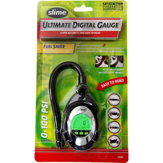 Slime Digital Deluxe Tyre Gauge - 0-100 PSI, , scanz_hi-res