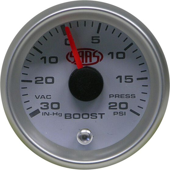 SAAS Boost Gauge White 52mm, , scanz_hi-res