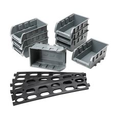 Parts Bin Tray Set - 8pce with rail, , scanz_hi-res