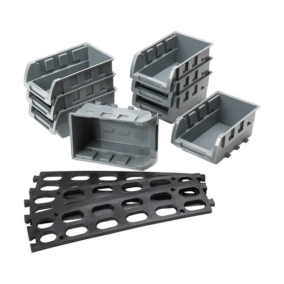 SCA Parts Bin Tray Set w / Rail - 165mm x 104mm x 76MM, 8 Pieces, , scanz_hi-res