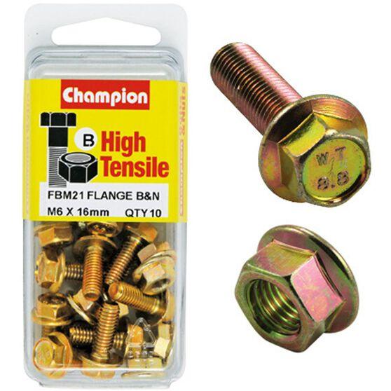 Flange Bolts - M6x16, High Tensile, , scanz_hi-res