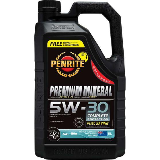 Penrite Premium Mineral Engine Oil - 5W-30, 5 Litre, , scanz_hi-res